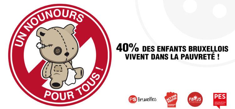 40% des enfants bruxellois vivent dans la pauvreté ! #Act4Youth