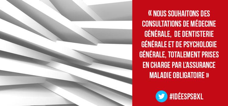 Vers des consultations de médecine générale – gratuites ? Osons dire OUI! Discours d'Halima Amrani