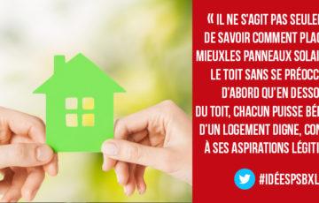 Ecosocialisme et concrétisation du droit au logement. Discours de Marie Vanhamme