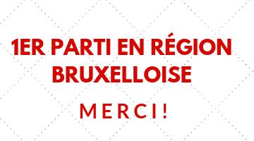 Le PS est premier parti en Région bruxelloise! Merci à toutes celles et tous ceux qui nous ont fait confiance!