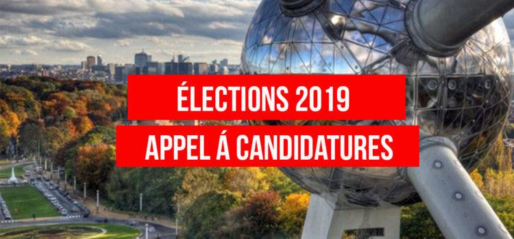 APPEL A CANDIDATURES – ÉLECTIONS 2019